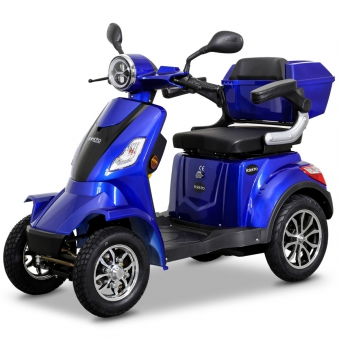 Seniorenmobil Elektromobil Elektroroller Rolektro Quad 25BG blau Bild 3