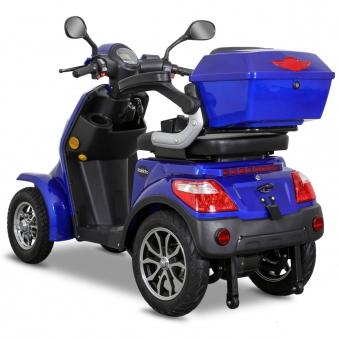 Seniorenmobil Elektromobil Elektroroller Rolektro Quad 25BG blau Bild 4
