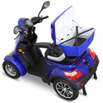 Seniorenmobil Elektromobil Elektroroller Rolektro Quad 25BG blau Bild 6