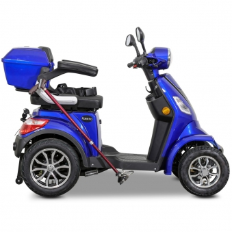 Seniorenmobil Elektromobil Elektroroller Rolektro Quad 25BG blau Bild 7
