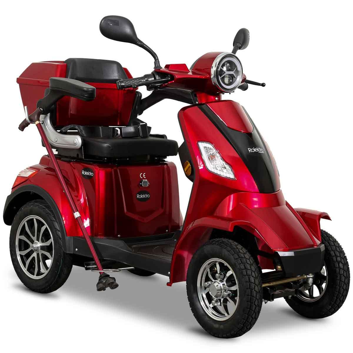 Seniorenmobil Elektromobil Elektroroller Rolektro Quad 25BG rot Bild 1