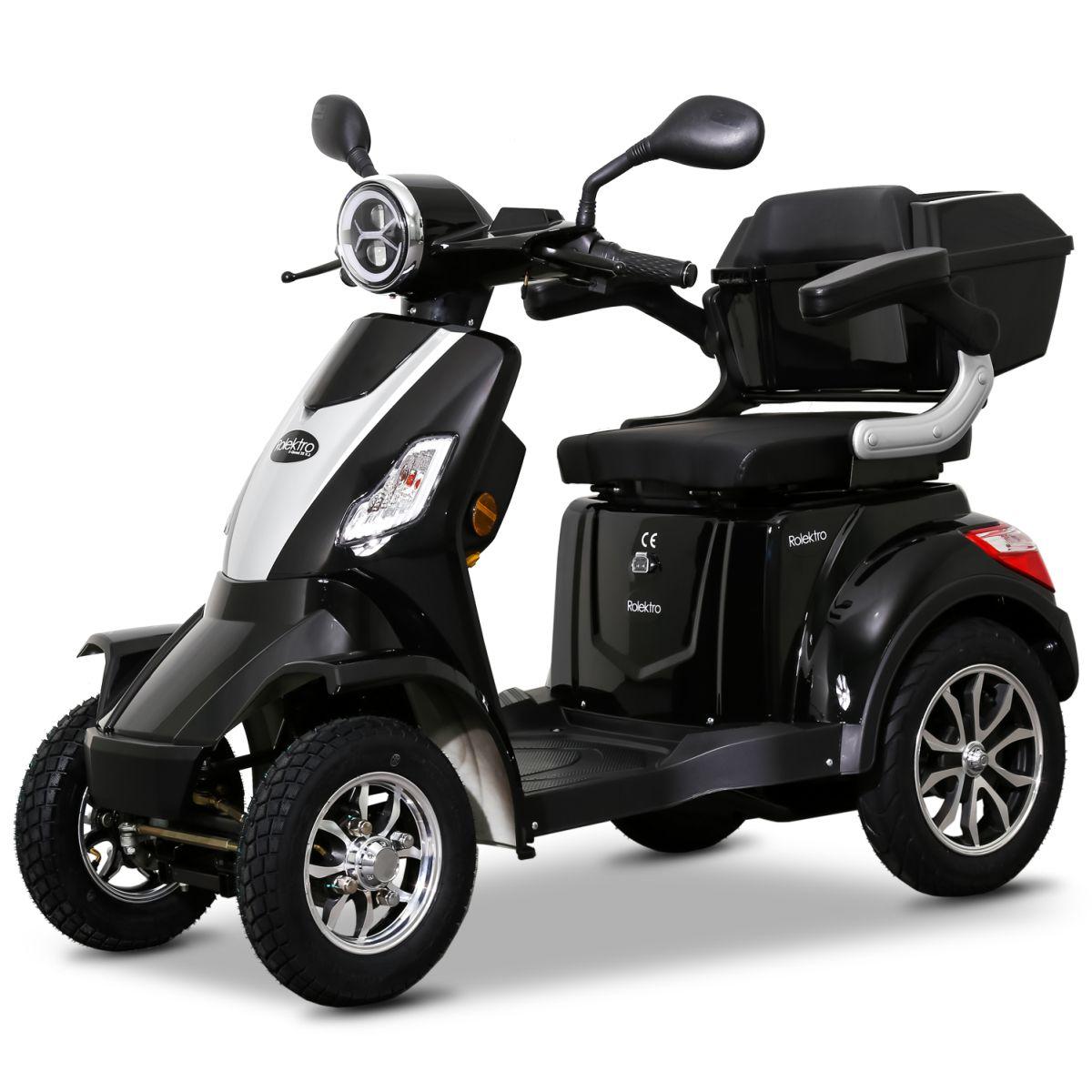 Seniorenmobil Elektromobil Elektroroller Rolektro Quad 25BG schwarz Bild 2