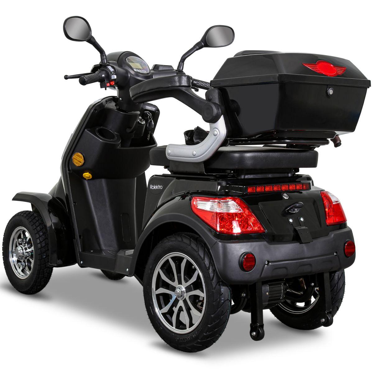 Seniorenmobil Elektromobil Elektroroller Rolektro Quad 25BG schwarz Bild 3