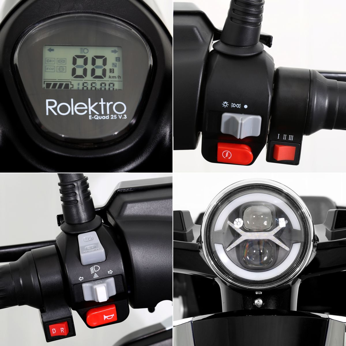 Seniorenmobil Elektromobil Elektroroller Rolektro Quad 25BG schwarz Bild 9