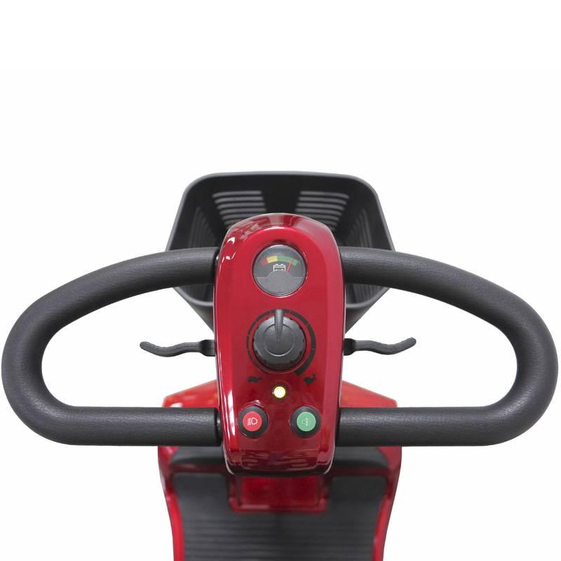 Seniorenmobil Elektromobil Senioren Mobilitätshilfe Komfort 6 rot Bild 3