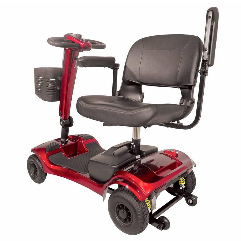 Seniorenmobil Elektromobil Senioren Mobilitätshilfe Komfort 6 rot Bild 5