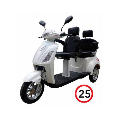 Seniorenmobil Elektromobil Seniorenscooter 2 Personen Twin 2000 weiss Bild 1