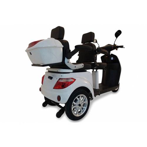 Seniorenmobil Elektromobil Seniorenscooter 2 Personen Twin 2000 weiss Bild 2