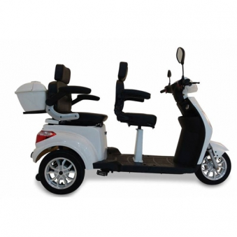 Seniorenmobil Elektromobil Seniorenscooter 2 Personen Twin 2000 weiss Bild 3