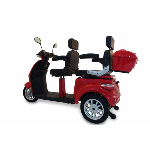 Seniorenmobil Elektromobil Seniorenscooter Twin 2000 ROT 2 Personen Bild 3