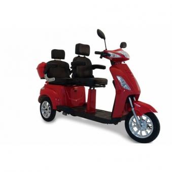 Seniorenmobil Elektromobil Seniorenscooter Twin 2000 ROT 2 Personen Bild 1