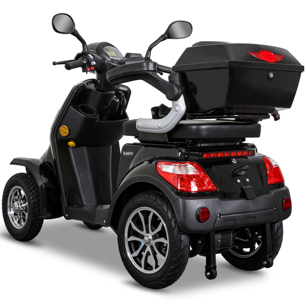 Seniorenmobil Elektroroller Lithium Rolektro E-Quad V3. 25Km/h schwarz Bild 4