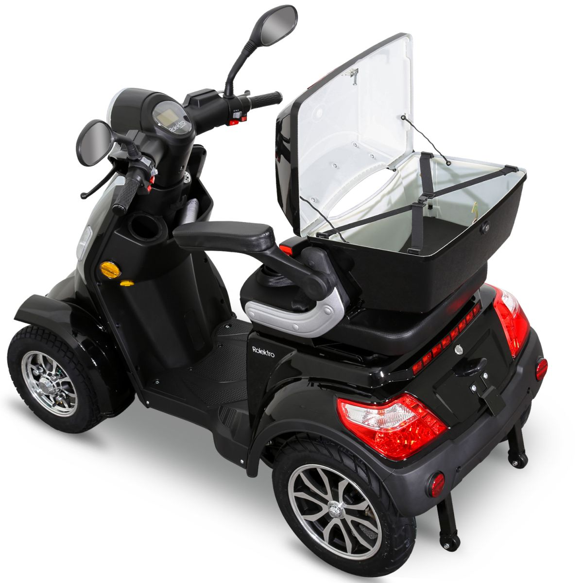 Seniorenmobil Elektroroller Lithium Rolektro E-Quad V3. 25Km/h schwarz Bild 6