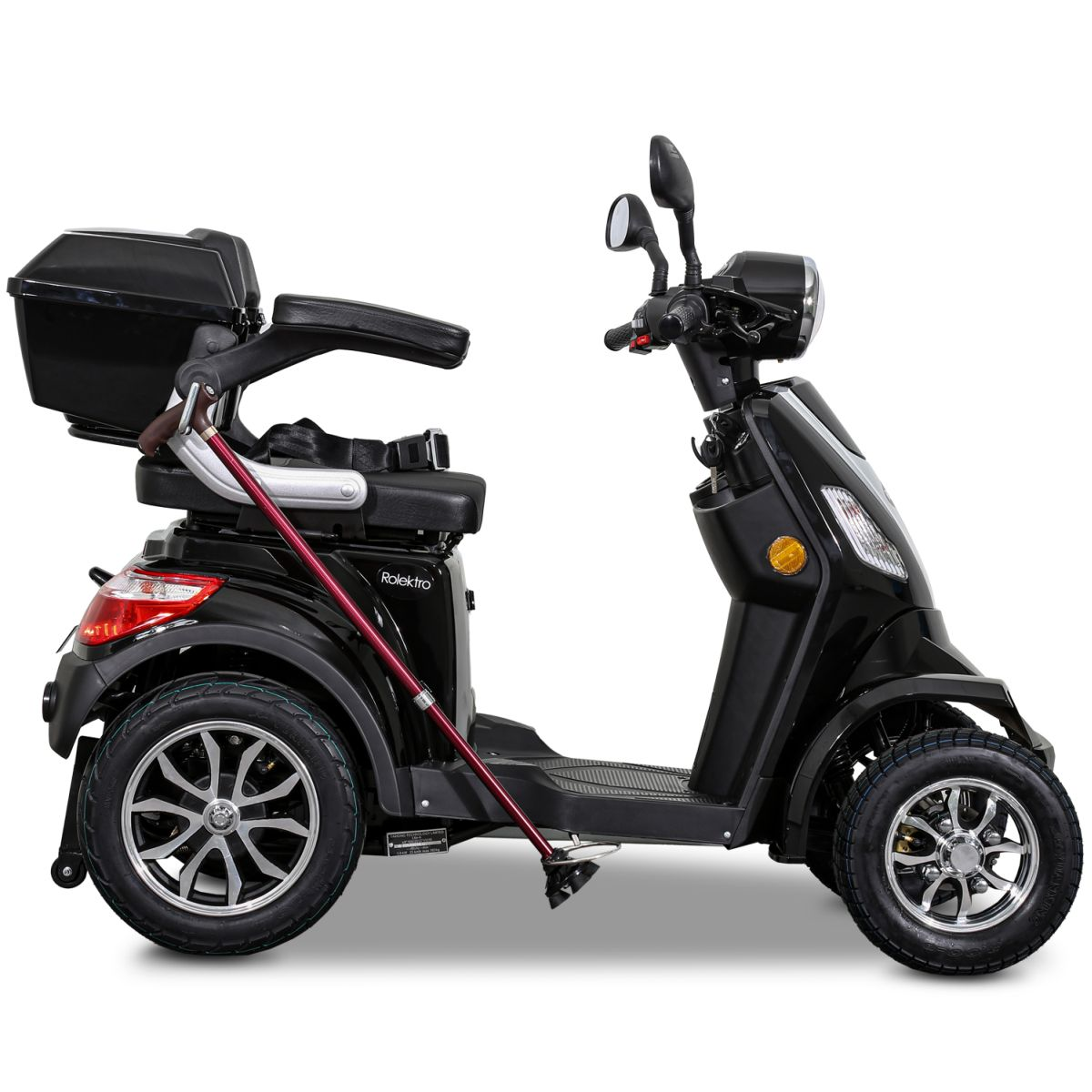Seniorenmobil Elektroroller Lithium Rolektro E-Quad V3. 25Km/h schwarz Bild 7