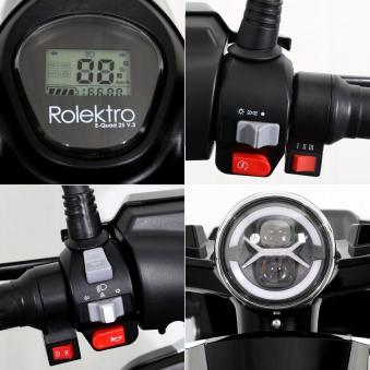 Seniorenmobil Elektroroller Lithium Rolektro E-Quad V3. 25Km/h schwarz Bild 8