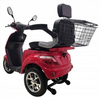 Vitale 25 Lith Seniorenmobil Elektromobil Elektroroller Trike rot Bild 3
