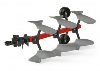 Anhänger für Tretfahrzeug rolly Pflug rot / silber - Rolly Toys Bild 1