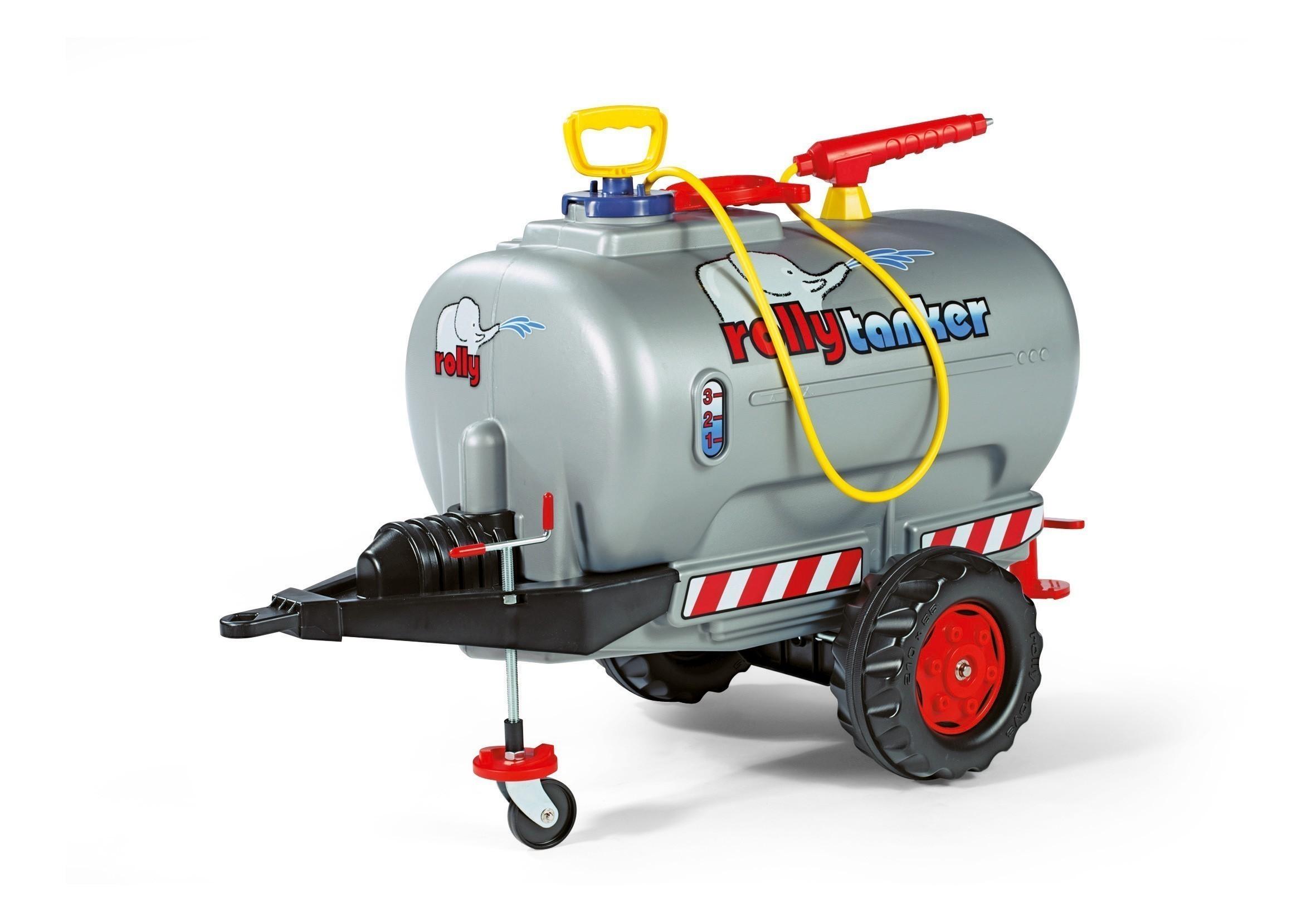 Anhänger für Tretfahrzeug rolly Tanker silber mit Pumpe - Rolly Toys Bild 1