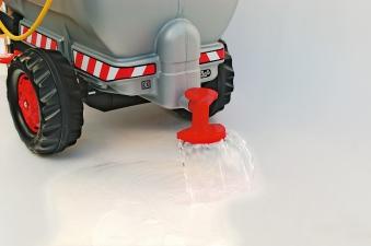 Anhänger für Tretfahrzeug rolly Tanker silber mit Pumpe - Rolly Toys Bild 2