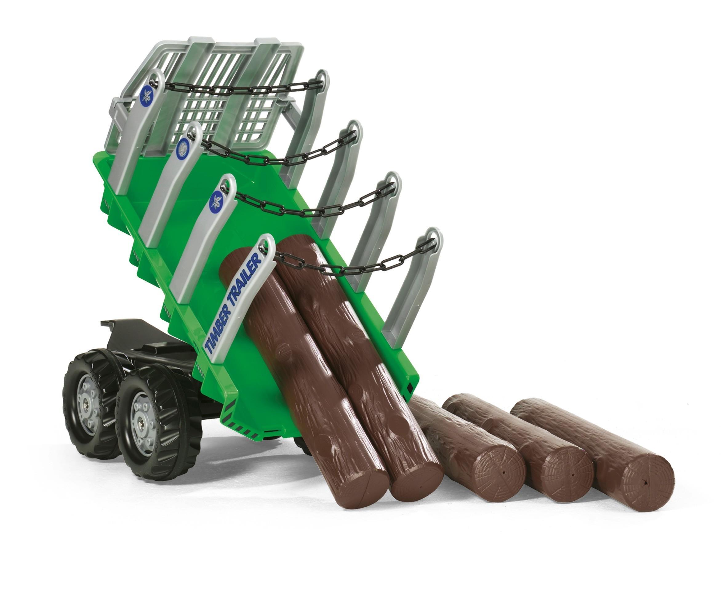 Anhänger für Tretfahrzeug rolly Timber Trailer - Rolly Toys Bild 2