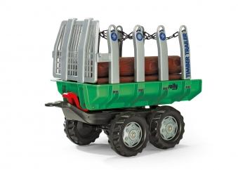 Anhänger für Tretfahrzeug rolly Timber Trailer - Rolly Toys Bild 1