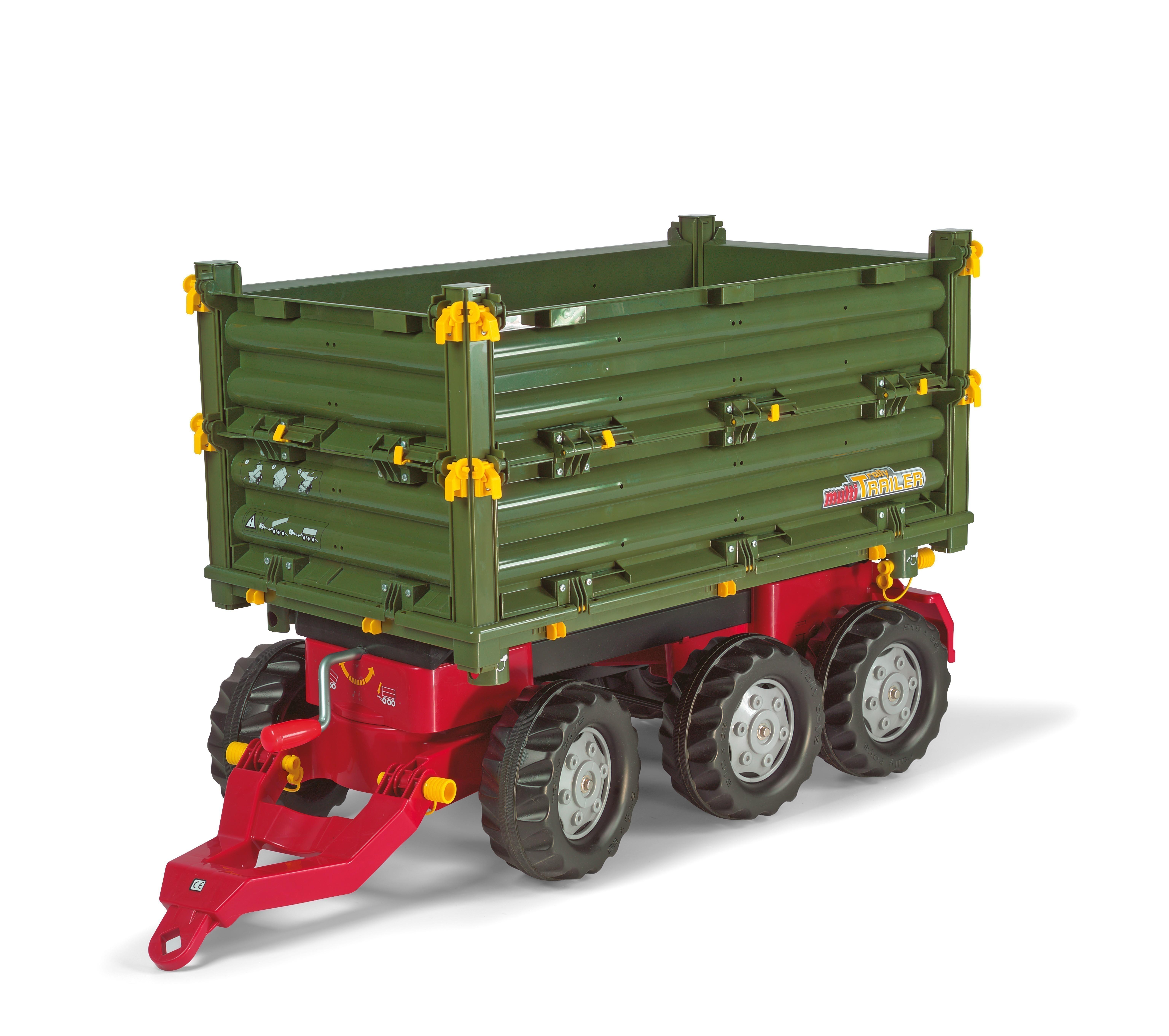 Anhänger für Tretfahrzeuge rolly Multi Trailer grün - Rolly Toys Bild 1