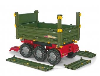 Anhänger für Tretfahrzeuge rolly Multi Trailer grün - Rolly Toys Bild 3