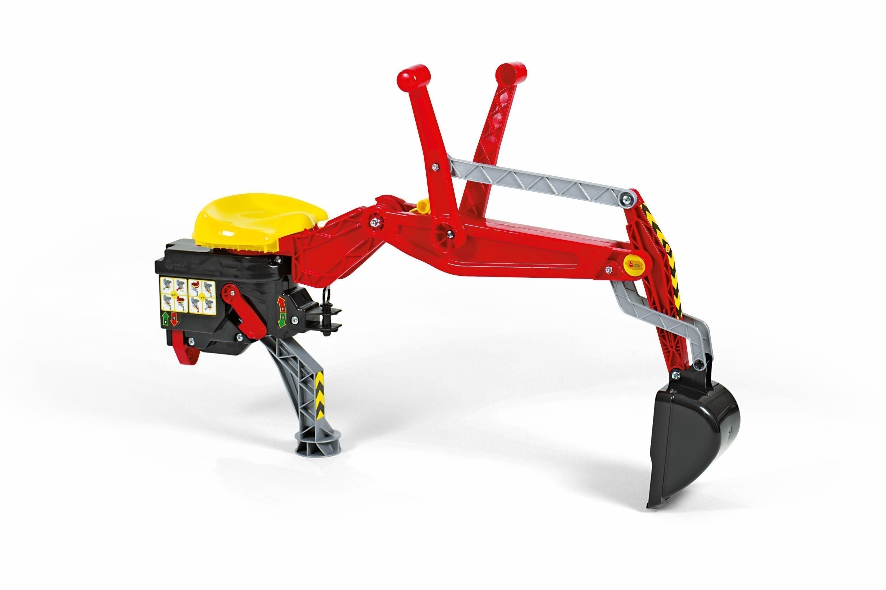 Heckbagger für Tretfahrzeug rolly Heckbagger rot - Rolly Toys Bild 1