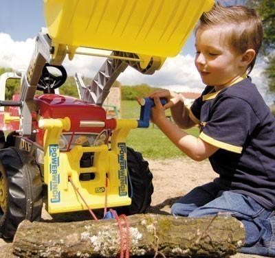 Seilwinde für Tretfahrzeug rolly Powerwinch gelb - Rolly Toys Bild 2