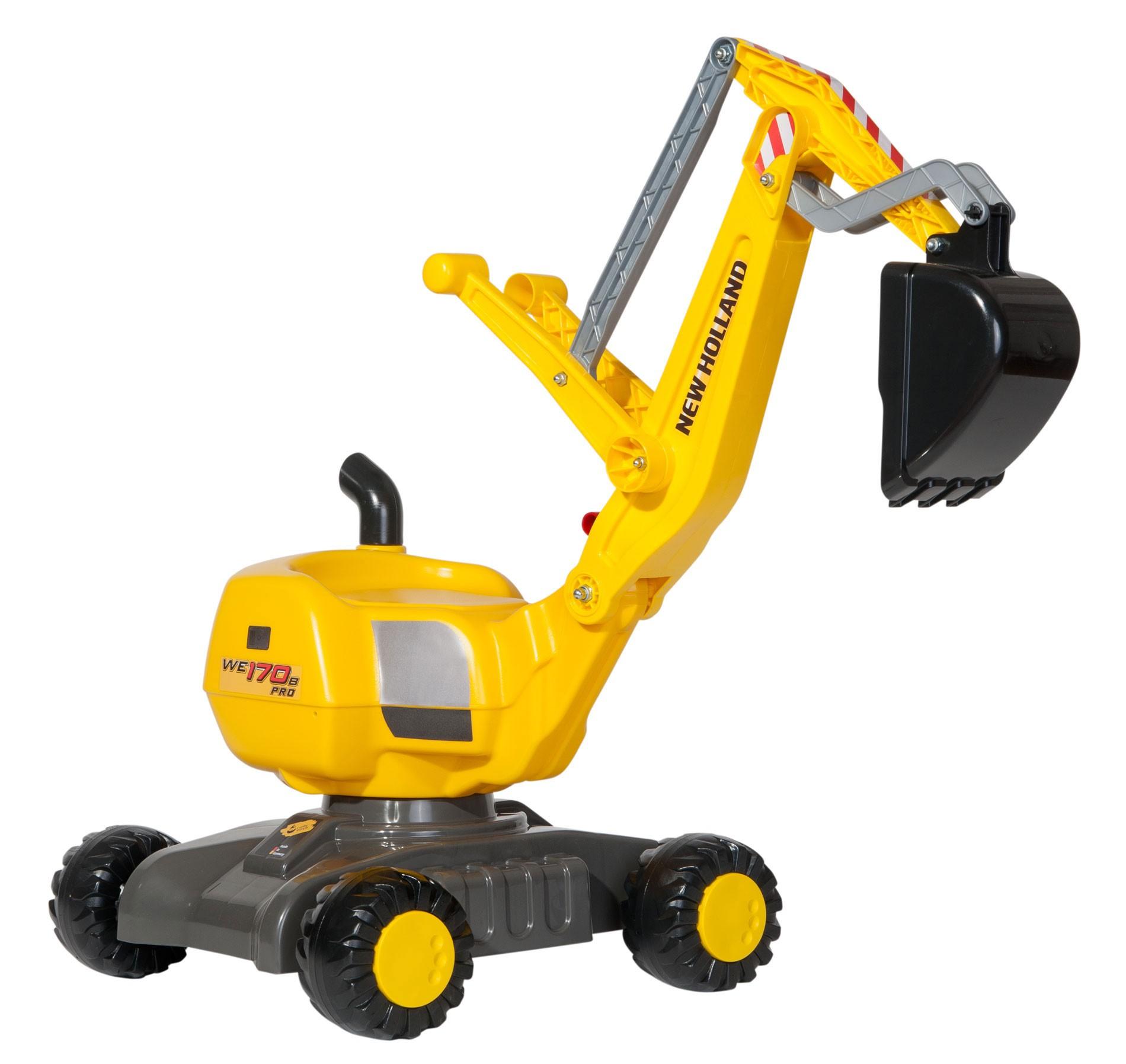 Rutschfahrzeug / Bagger rollyDigger NewHolland Construction - Rolly Toys Bild 1
