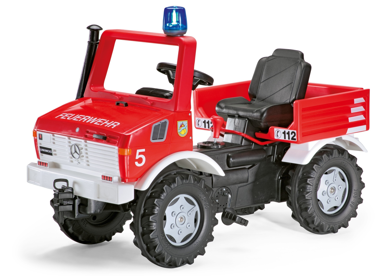 Tretfahrzeug rolly Fire Unimog Feuerwehr  - Rolly Toys Bild 1