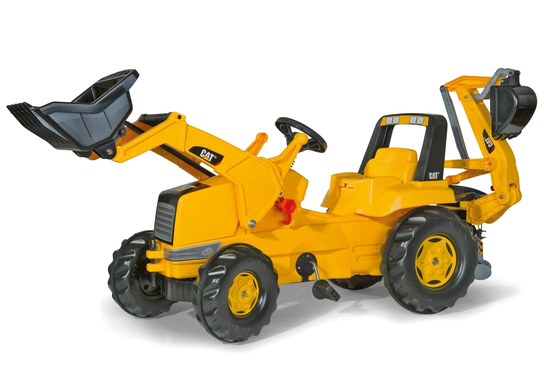 Trettraktor rolly Junior CAT mit Frontlader + Heckbagger - Rolly Toys Bild 1