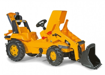 Trettraktor rolly Junior CAT mit Frontlader + Heckbagger - Rolly Toys Bild 2