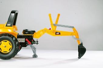Trettraktor rolly Junior CAT mit Frontlader + Heckbagger - Rolly Toys Bild 3