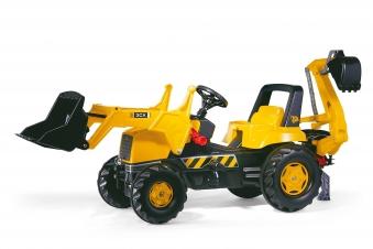 Trettraktor rolly Junior JCB mit Frontlader + Heckbagger - Rolly Toys Bild 1
