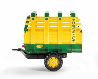 Anhänger für Tretfahrzeug rolly Hay Wagon grün / gelb - Rolly Toys