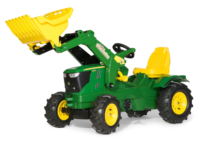 Trettraktor rolly Farmtrac John Deere 6210 R Luftreifen - Rolly Toys Bild 1