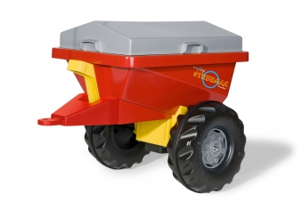 Anhänger für Tretfahrzeug rolly Streumax rot - Rolly Toys