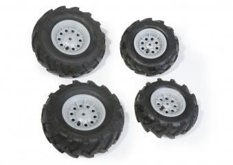 Räder rolly Luftbereifung für Tretfahrzeug 260x95 + 325x110 silber