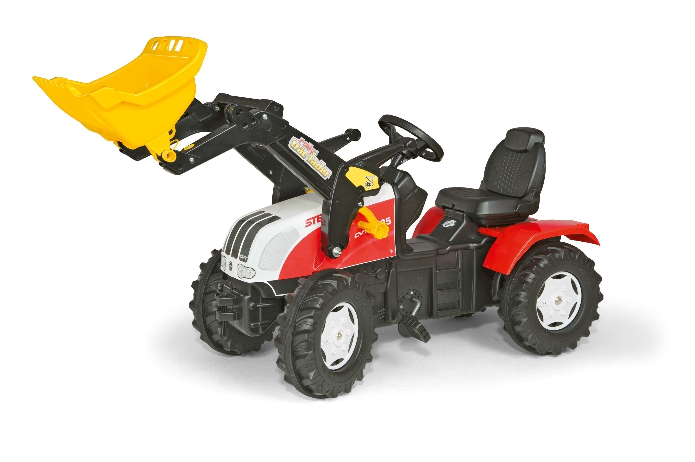 Trettraktor rolly Farmtrac Steyr CVT 6230 mit Frontlader - Rolly Toys Bild 1