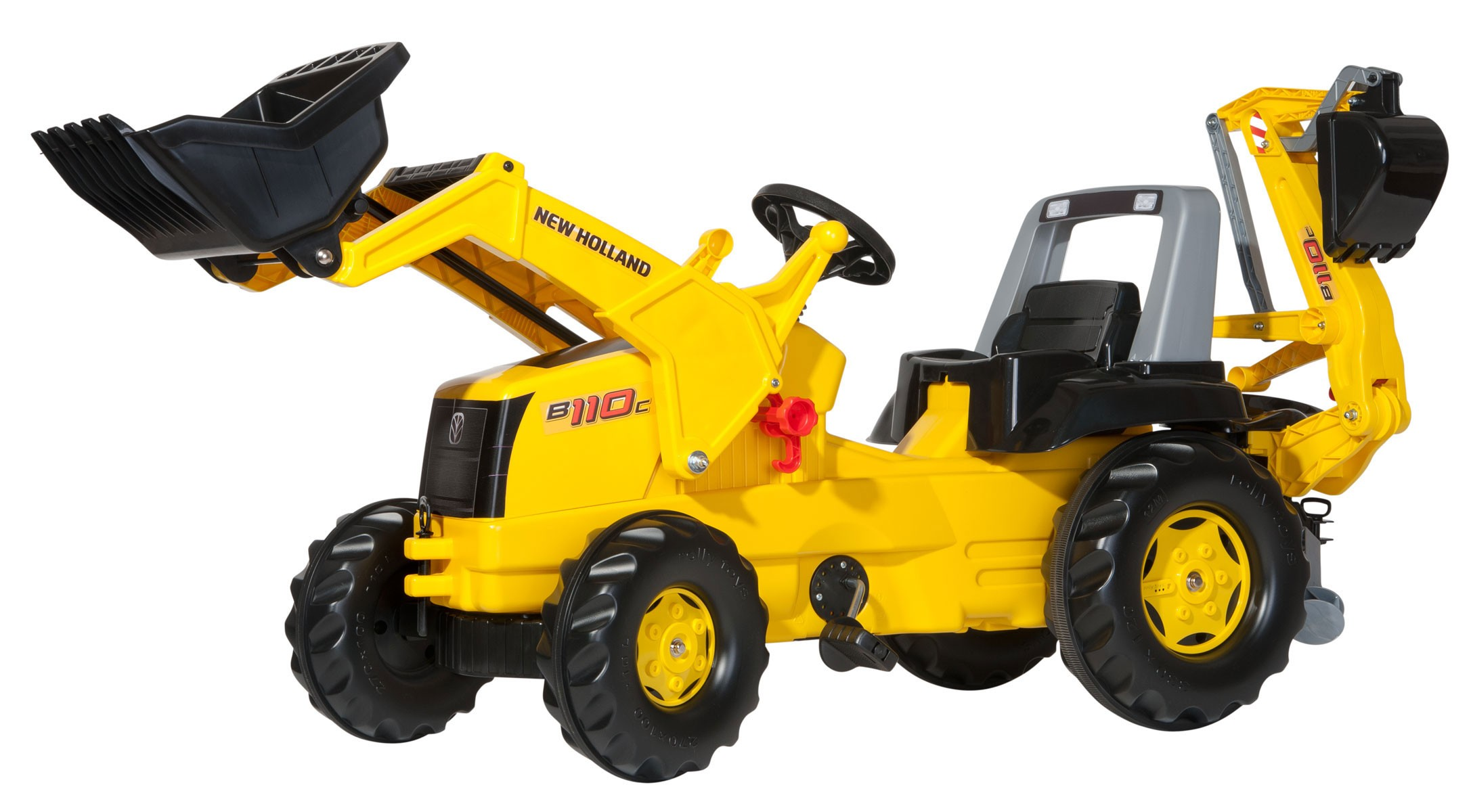 Trettraktor rolly Junior New Holland Construction - Rolly Toys Bild 1
