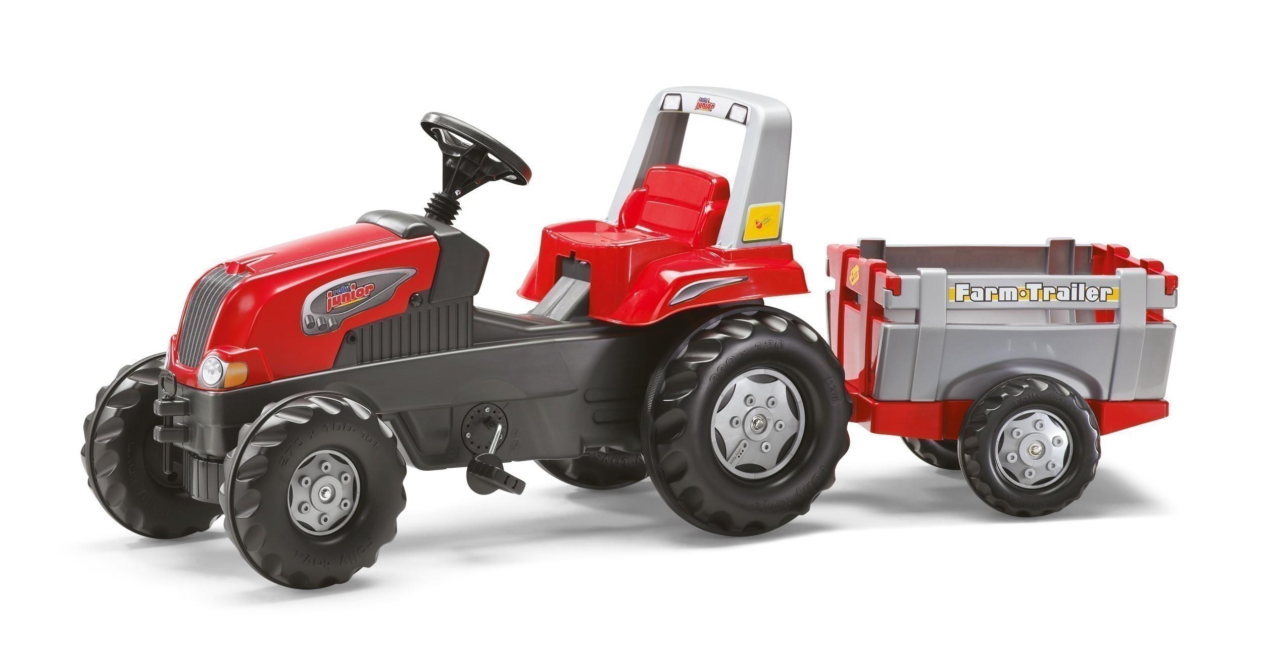 Trettraktor rolly Junior RT mit Anhänger - Rolly Toys Bild 1