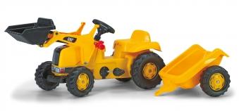 Trettraktor rolly Kid CAT mit Frontlader + Anhänger - Rolly Toys Bild 1