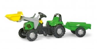 Trettraktor rolly Kid Deutz-Fahr Frontlader + Anhänger - Rolly Toys Bild 1
