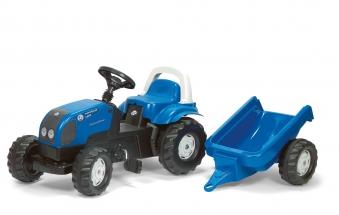Trettraktor rolly Kid Landini mit Anhänger - Rolly Toys Bild 1