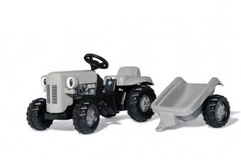 Trettraktor rolly Kid Little Grey Fergie mit Anhänger - Rolly Toys Bild 1