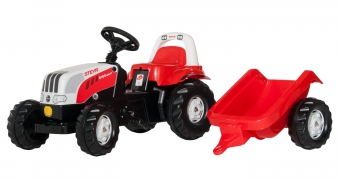 Trettraktor rolly Kid Steyr 6160 CVT mit Anhänger - Rolly Toys Bild 1
