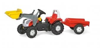 Trettraktor rolly Kid Steyr 6190 CVT Frontlader +Anhänger - Rolly Toys Bild 1