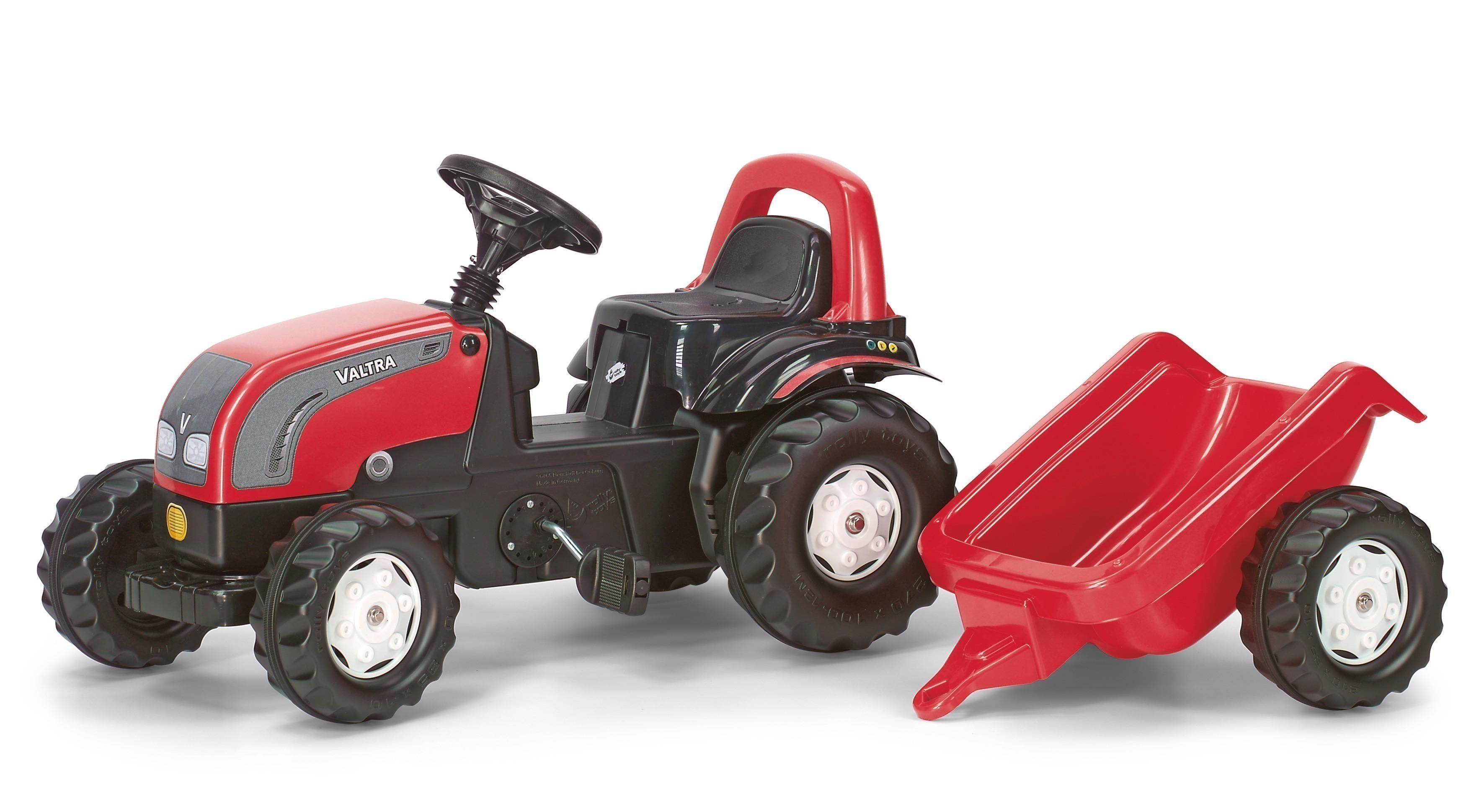 Trettraktor rolly Kid Valtra mit Anhänger - Rolly Toys Bild 1