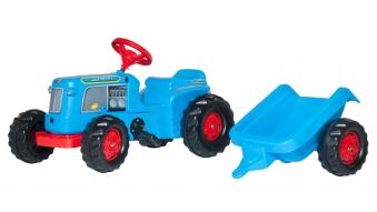 Trettraktor rolly Kiddy Classic + Anhänger blau - Rolly Toys Bild 1